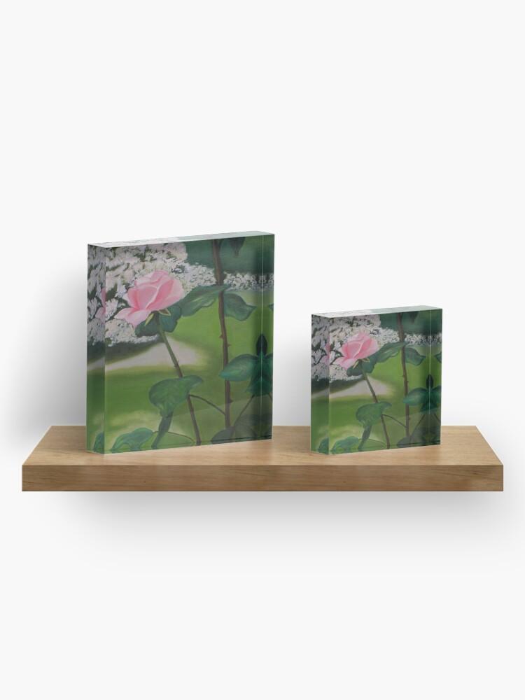 Alternate view of American Beauty Acrylic Block