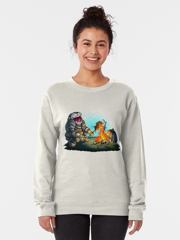 Alternate view of GoEaSyTwitch Fight By Your Side Pullover Sweatshirt
