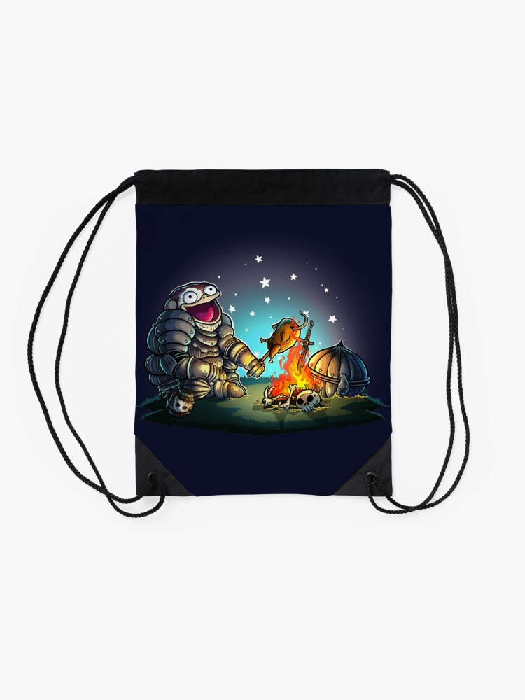 Alternate view of GoEaSyTwitch Fight By Your Side Drawstring Bag