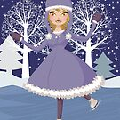 Winter Skating Mädchen von AnnArtshock