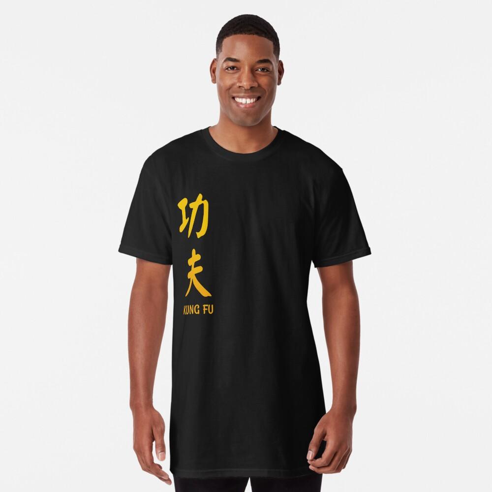 Kung Fu chinesische vertikale Kalligraphie Longshirt