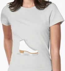 White ice skate Womens Fitted T-Shirt