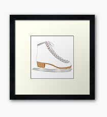 White ice skate Framed Print