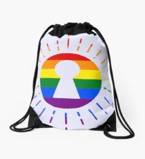 RAINBOW - SUN - KEYHOLE Drawstring Bag