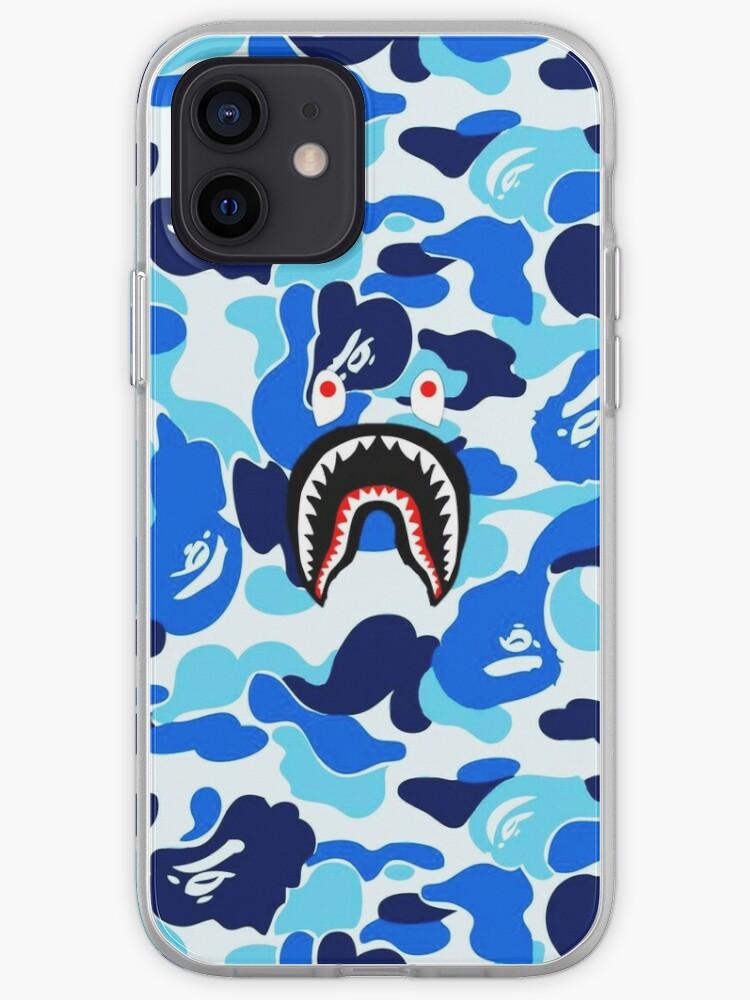 Blue Bape Shark   Coque iPhone
