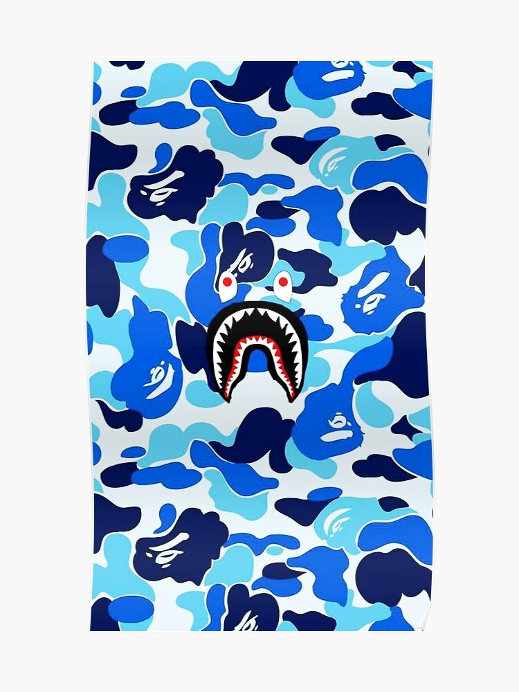 « Poster Blue Shark JakedominyRedbubble »Par Bape kiPTXuOZ