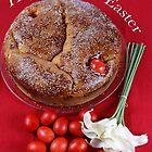 Happy Greek Easter With Greek Bread & Eggs by daphsam