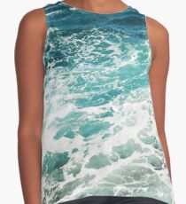 Blue Ocean Waves  Contrast Tank