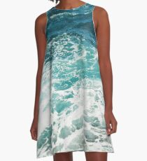 Vestido acampanado Blue Ocean Waves