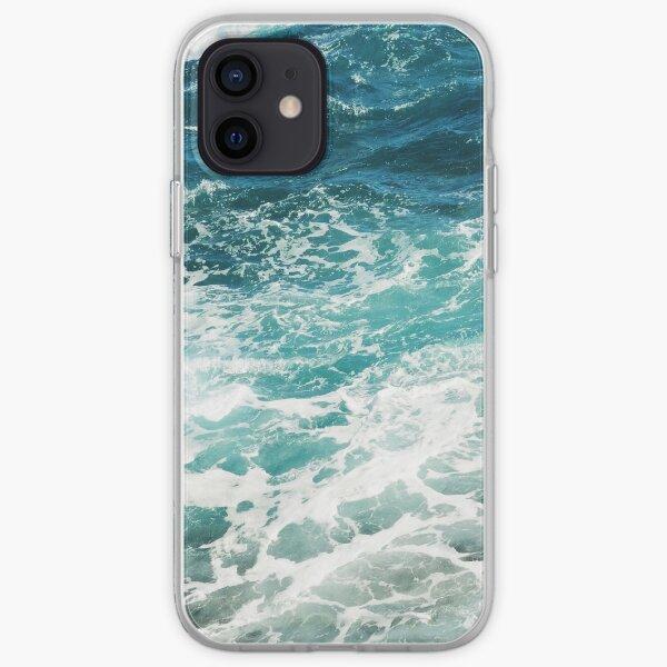Vagues de l'océan bleu Coque souple iPhone