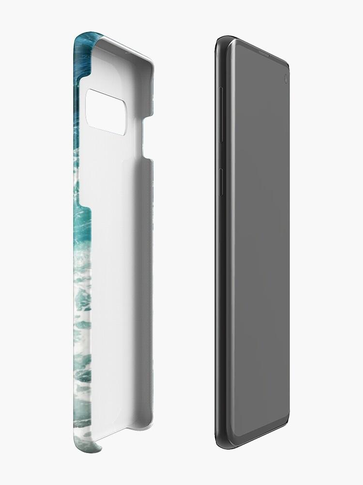 Alternate view of Blue Ocean Waves  Case & Skin for Samsung Galaxy