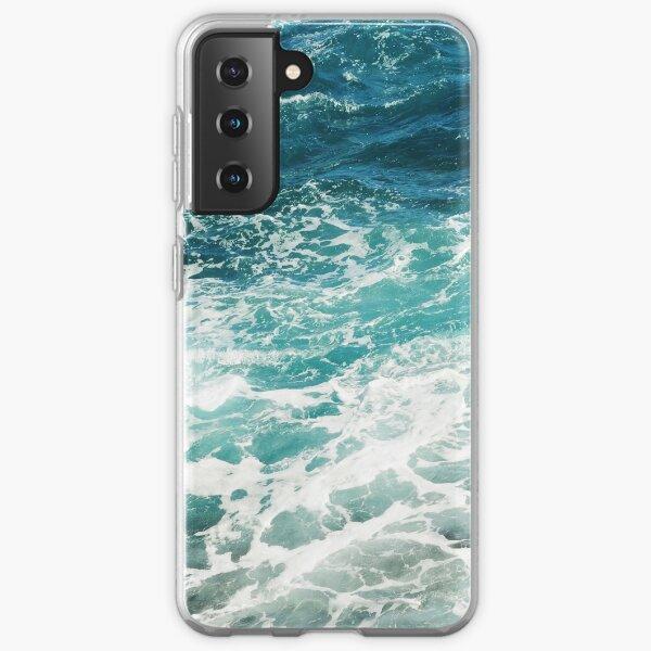 Blue Ocean Waves  Samsung Galaxy Soft Case
