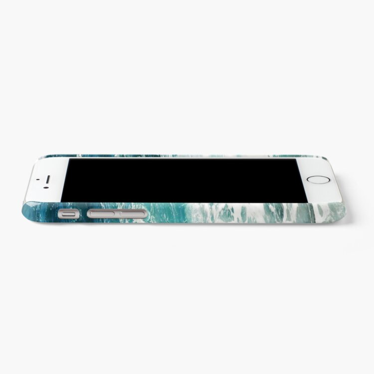 Alternate view of Blue Ocean Waves  iPhone Case & Cover
