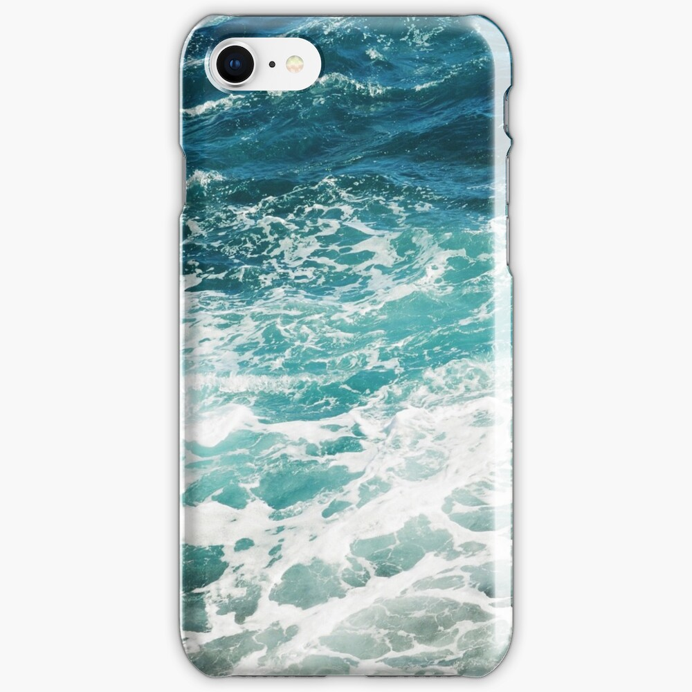 Blue Ocean Waves  iPhone Case & Cover