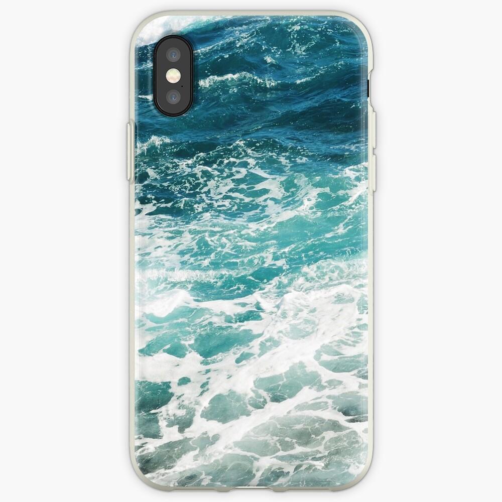 Blaue Meereswellen iPhone-Hülle & Cover