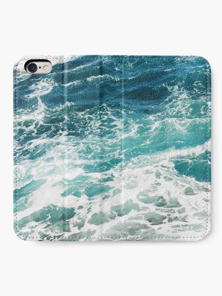Alternate view of Blue Ocean Waves  iPhone Wallet