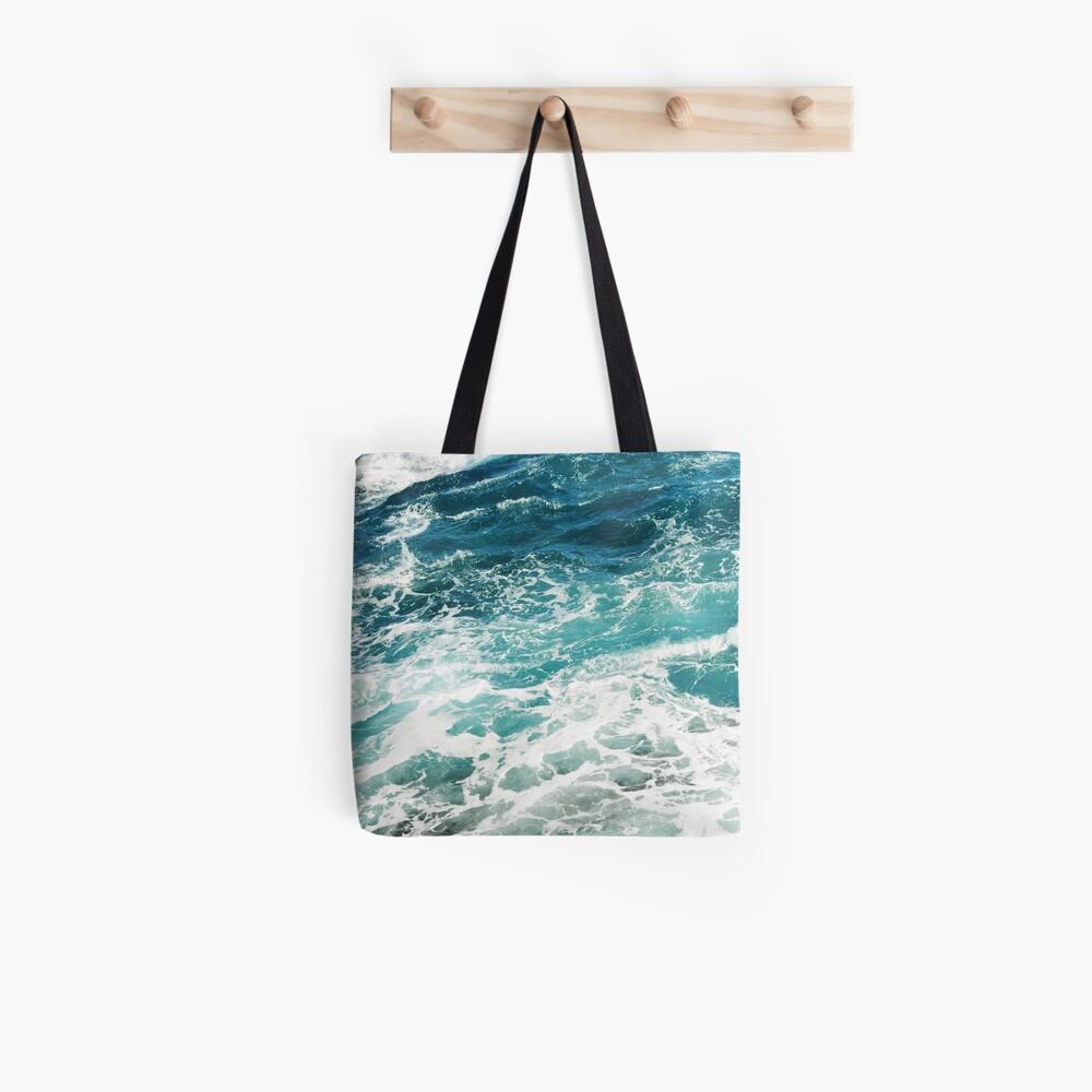 Blue Ocean Waves  Tote Bag