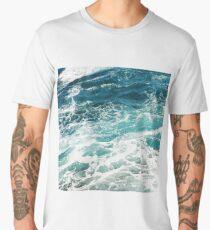 Blue Ocean Waves  Men's Premium T-Shirt