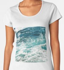 Blue Ocean Waves  Women's Premium T-Shirt