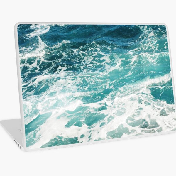 Blue Ocean Waves  Laptop Skin