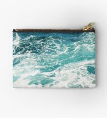 Blue Ocean Waves  Zipper Pouch
