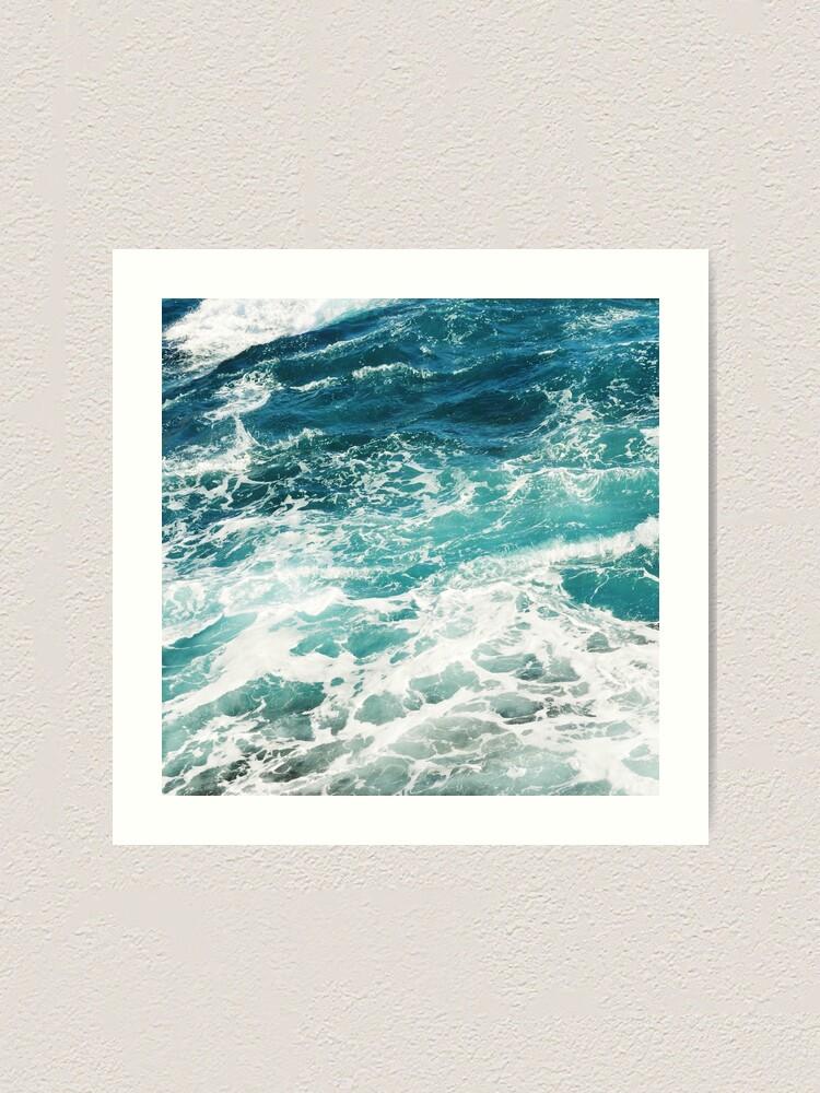 Alternate view of Blue Ocean Waves  Art Print