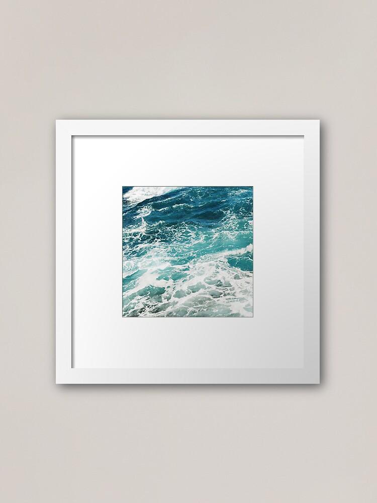 Alternate view of Blue Ocean Waves  Framed Art Print