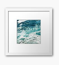 Blue Ocean Waves  Framed Print