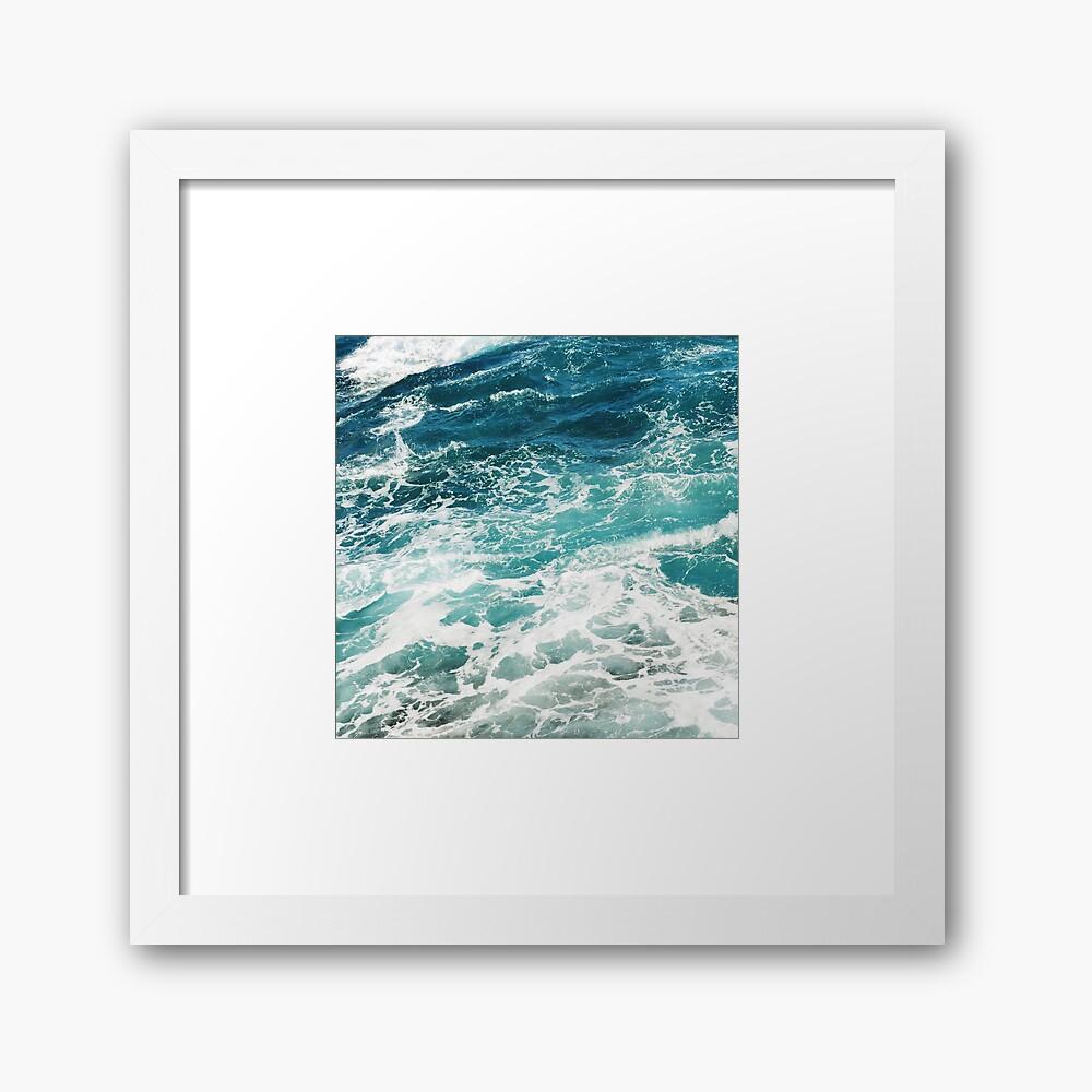 Blaue Meereswellen Gerahmter Kunstdruck
