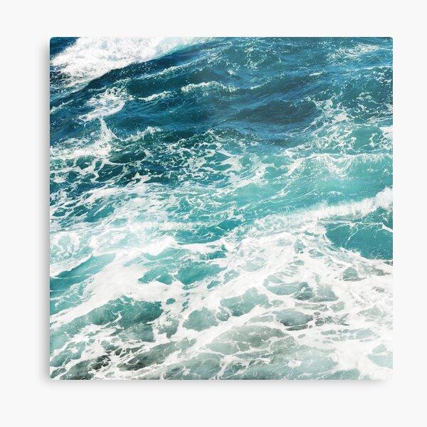 Blue Ocean Waves  Metal Print
