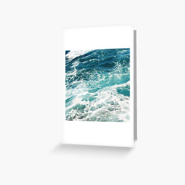Blue Ocean Waves  Greeting Card