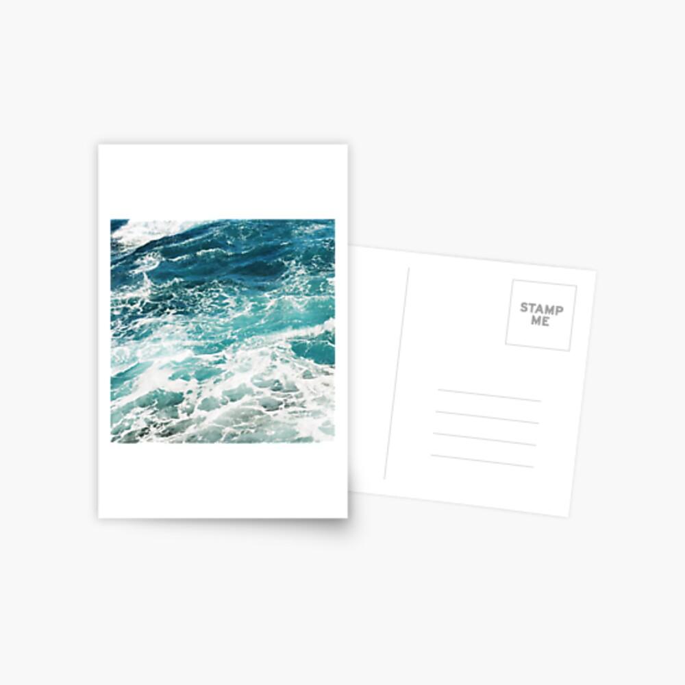 Blue Ocean Waves  Postcard