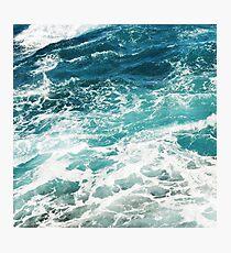 Lámina fotográfica Blue Ocean Waves