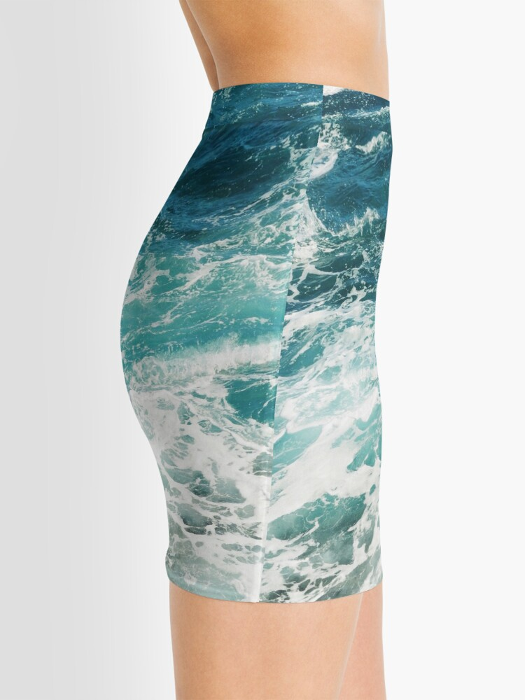 Alternate view of Blue Ocean Waves  Mini Skirt