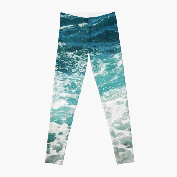 Blue Ocean Waves  Leggings