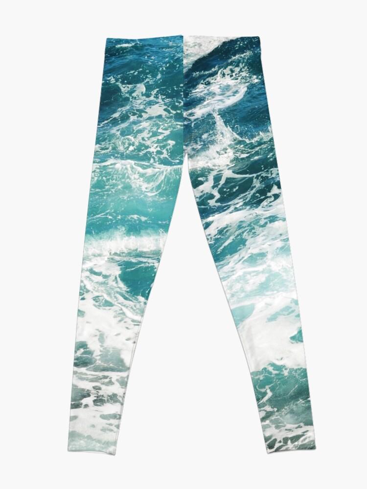Alternate view of Blue Ocean Waves  Leggings