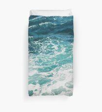 Blaue Meereswellen Bettbezug