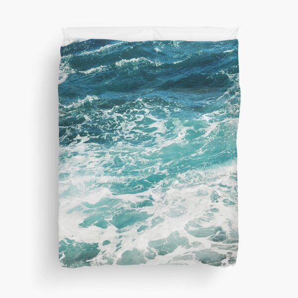 Blue Ocean Waves  Duvet Cover