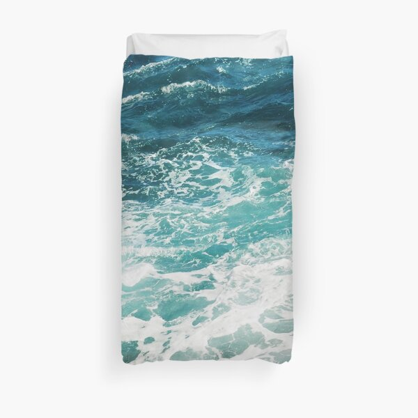 Blue Ocean Waves  Duvet Cover
