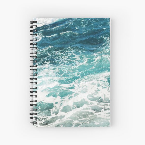 Blue Ocean Waves  Spiral Notebook