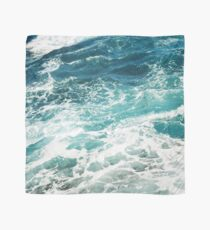 Blaue Meereswellen Tuch