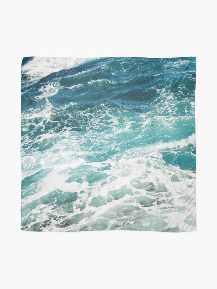 Alternate view of Blue Ocean Waves  Scarf