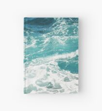 Blue Ocean Waves  Hardcover Journal