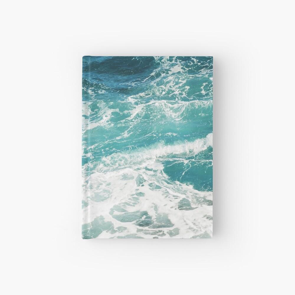 Blue Ocean Waves  Hardcover Journal