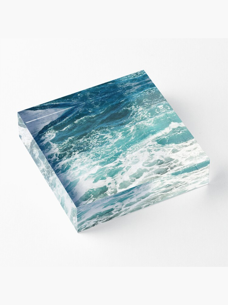 Alternate view of Blue Ocean Waves  Acrylic Block