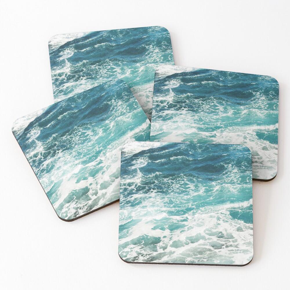 Blue Ocean Waves  Coasters (Set of 4)
