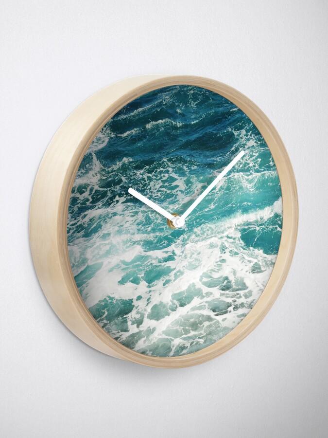 Alternate view of Blue Ocean Waves  Clock