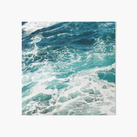 Blue Ocean Waves  Art Board Print