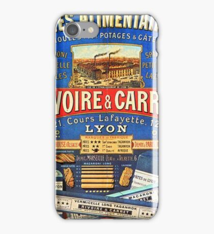 Rivoire & Carret French Pasta Vintage Poster iPhone Case/Skin