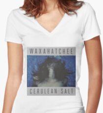 Waxahatchee - cerulan salt vinyl LP sleeve art fan art Women's Fitted V-Neck T-Shirt